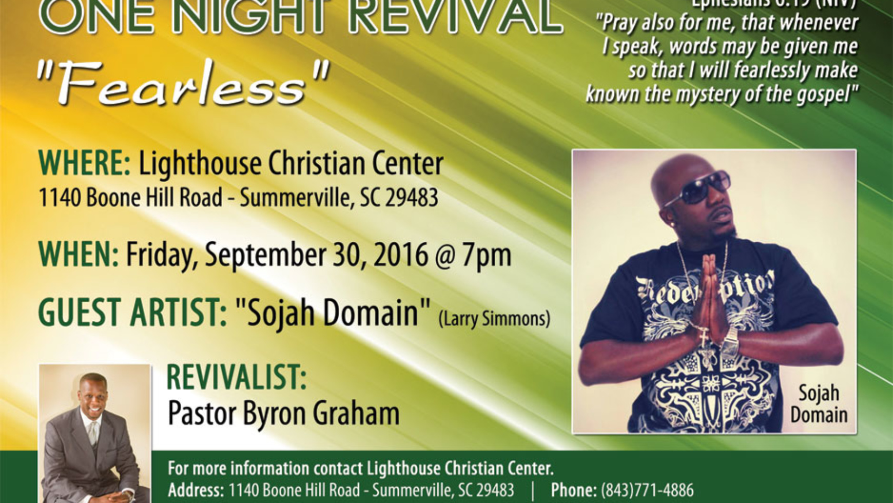 One Night Revival: 9/30/16