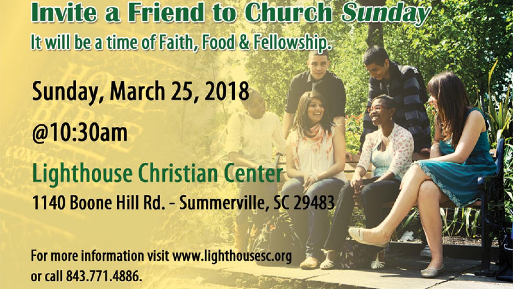 Invite a Friend to Church Sunday