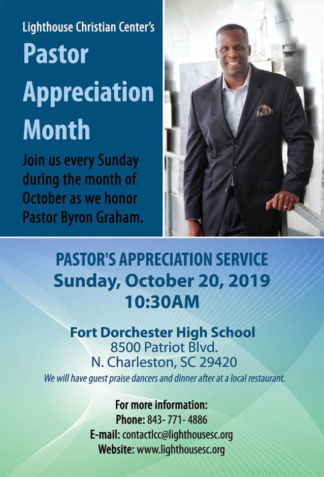 Pastor's Appreciation Service flyer