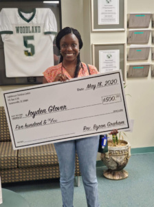 scholarship award winner Joyden Glover