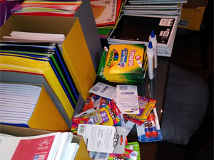 school supplies give away