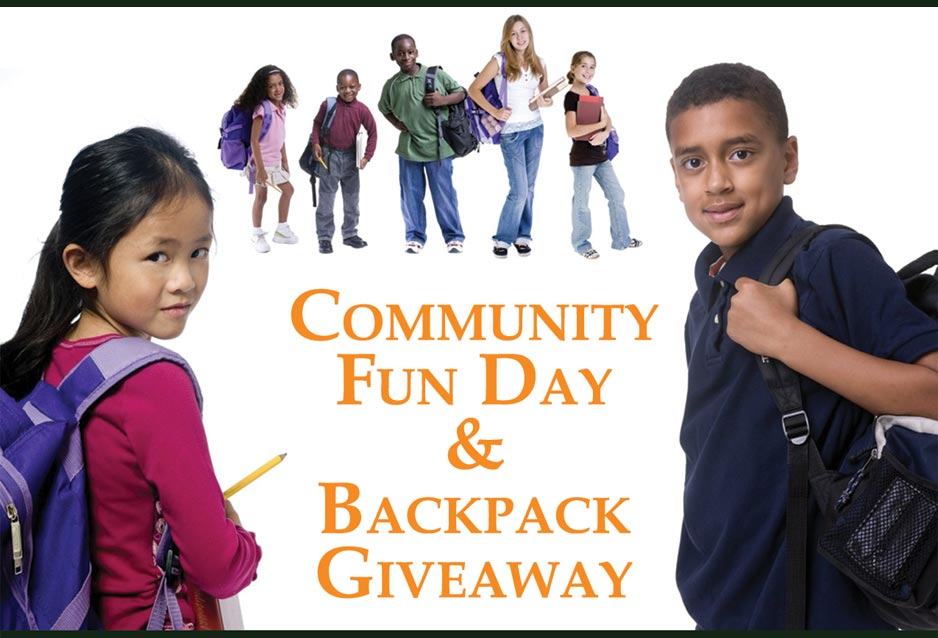 Community  Fun Day  &  Backpack  Giveaway